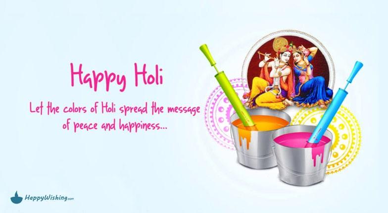 happy holi image wishing